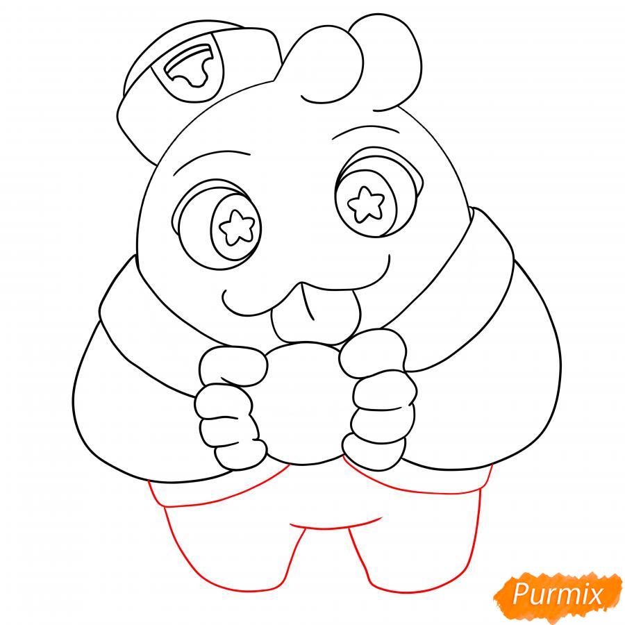 Рисуем Скуика с мячом - шаг 7