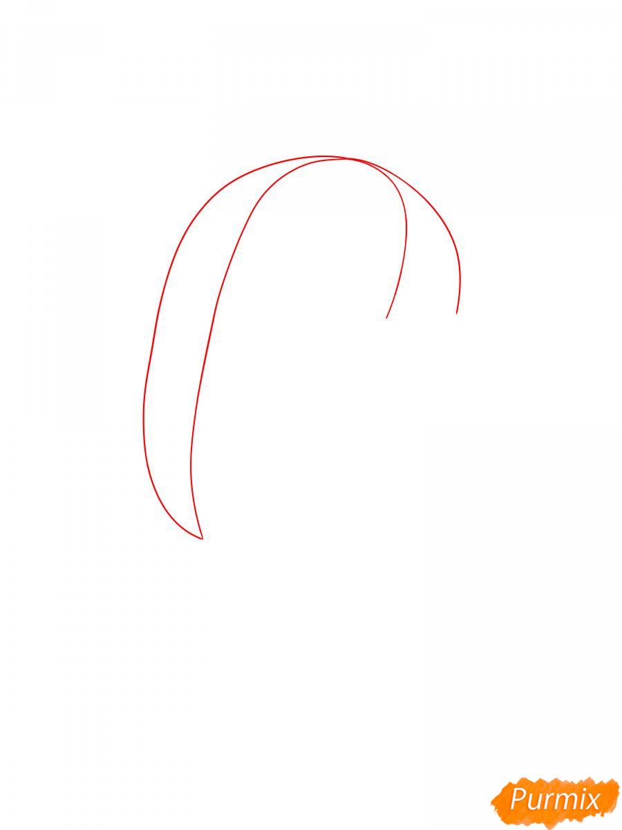 Рисуем Спайка из Бравл Старс - шаг 1