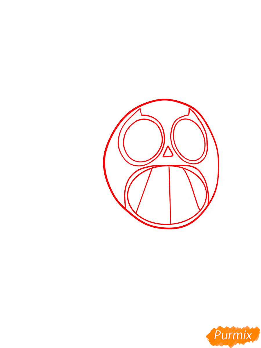 Рисуем Спайка в маске - шаг 1