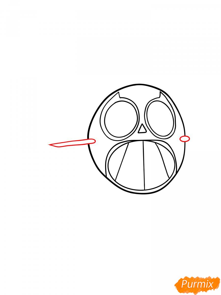 Рисуем Спайка в маске - шаг 2