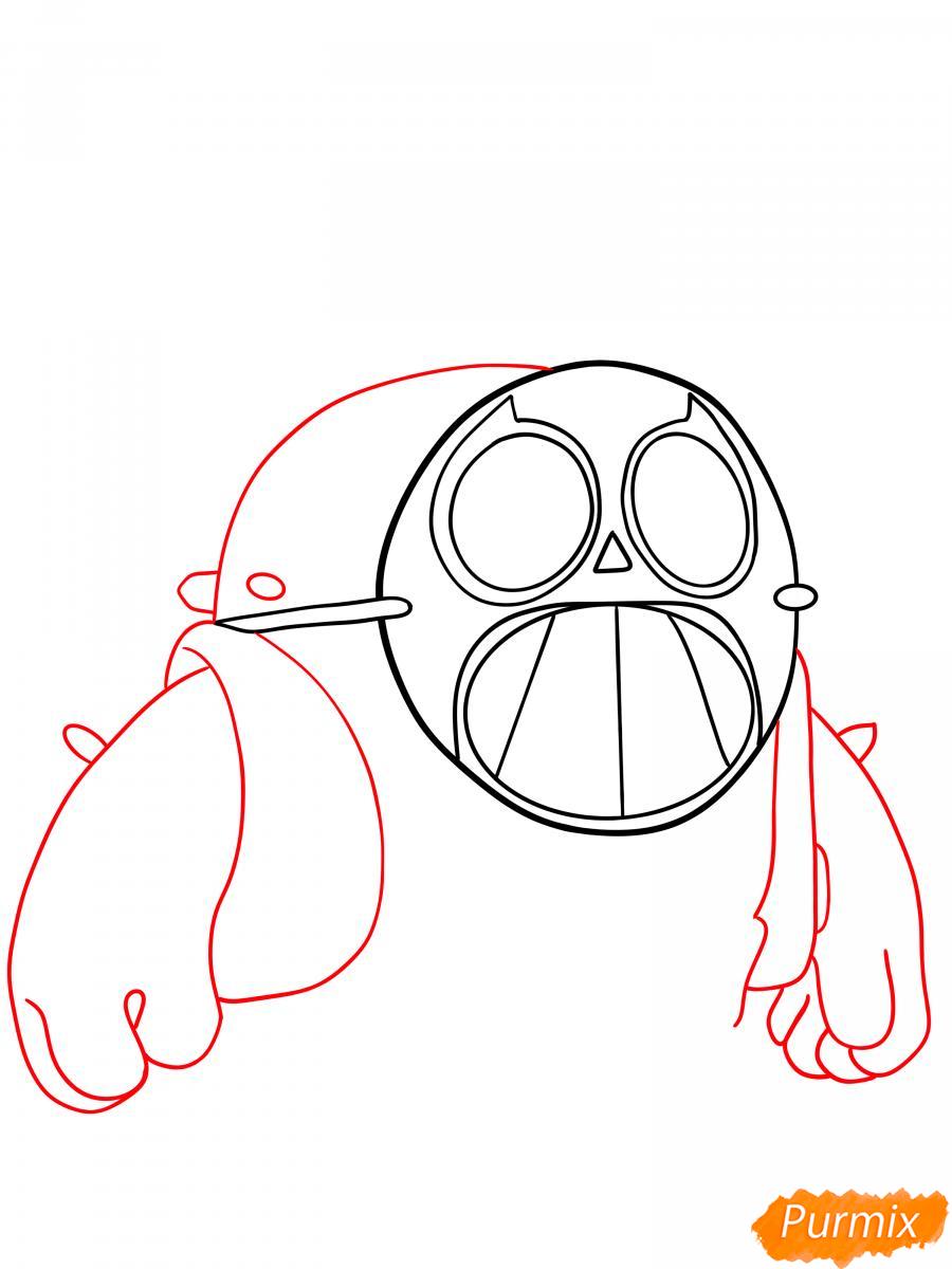 Рисуем Спайка в маске - шаг 3