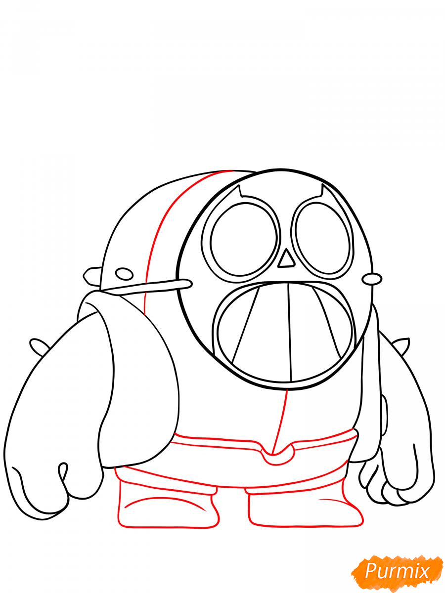 Рисуем Спайка в маске - шаг 4