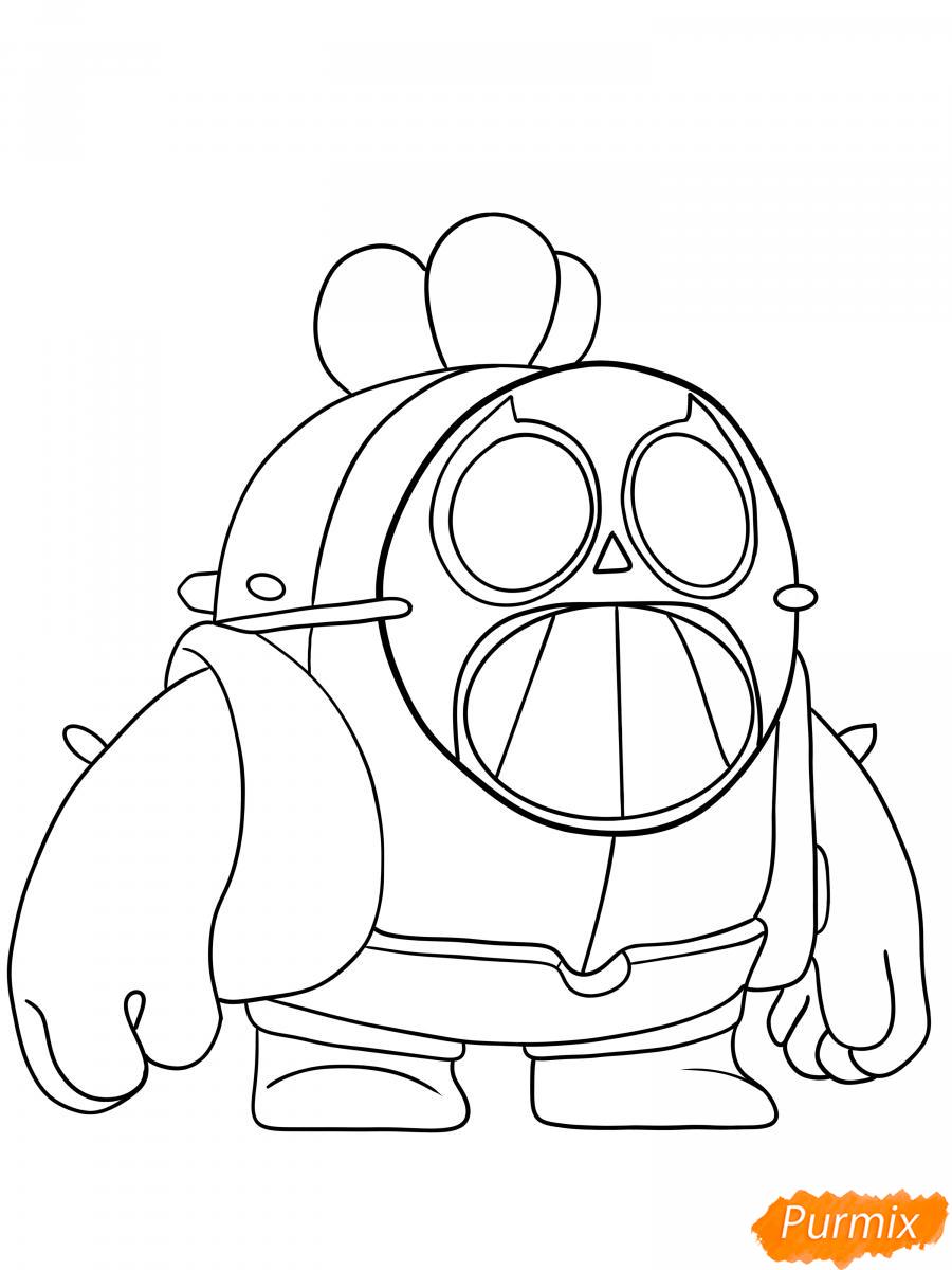 Рисуем Спайка в маске - шаг 6