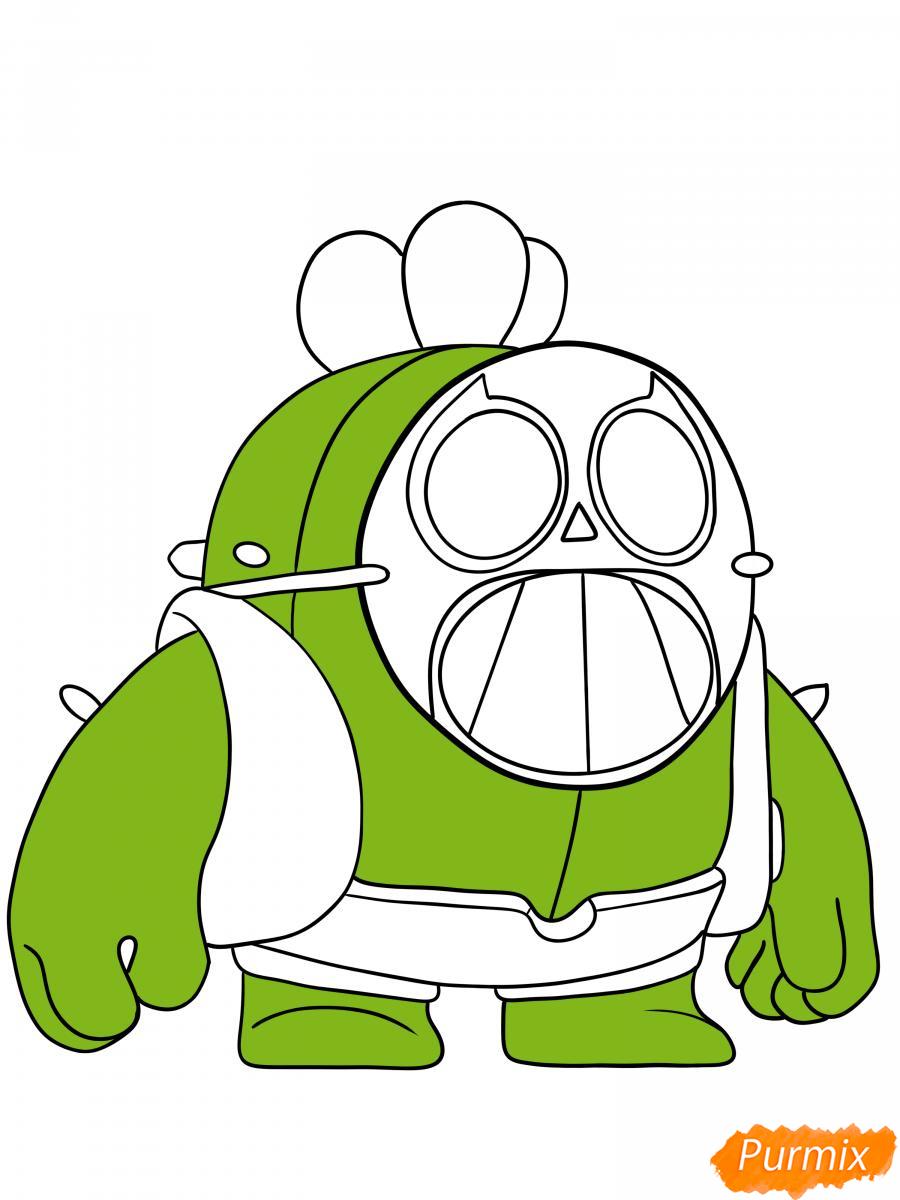 Рисуем Спайка в маске - шаг 7