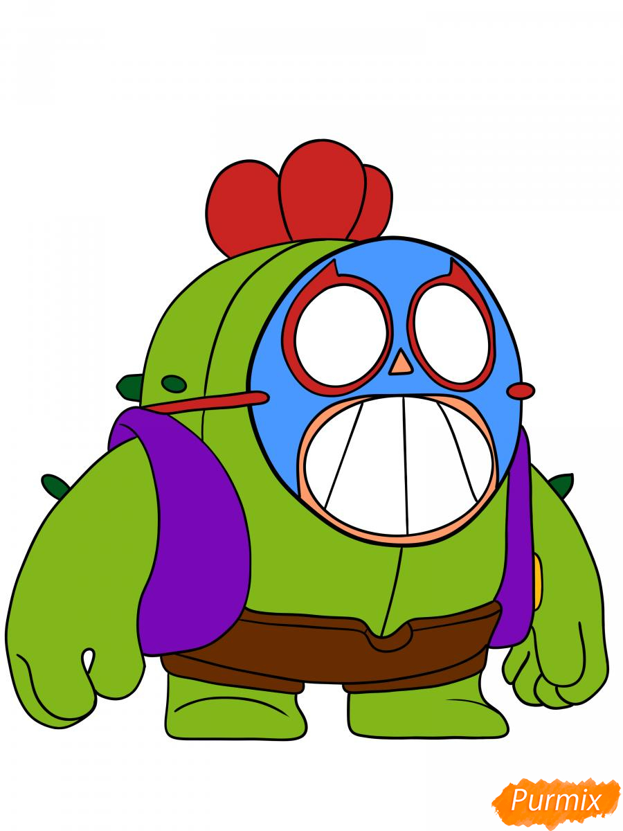 Рисуем Спайка в маске - шаг 9