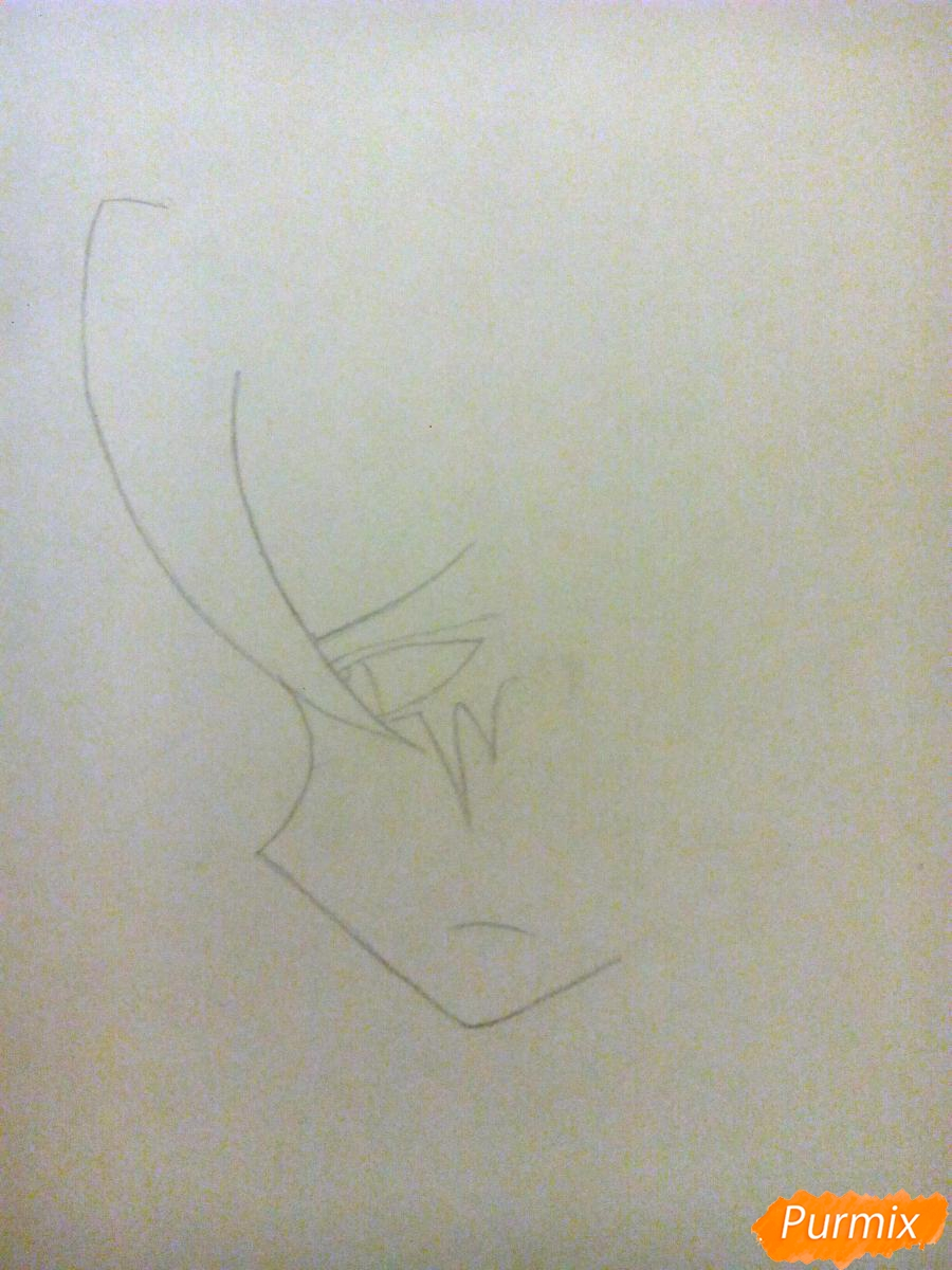 Рисуем Спрингтрапа в стиле аниме - шаг 2