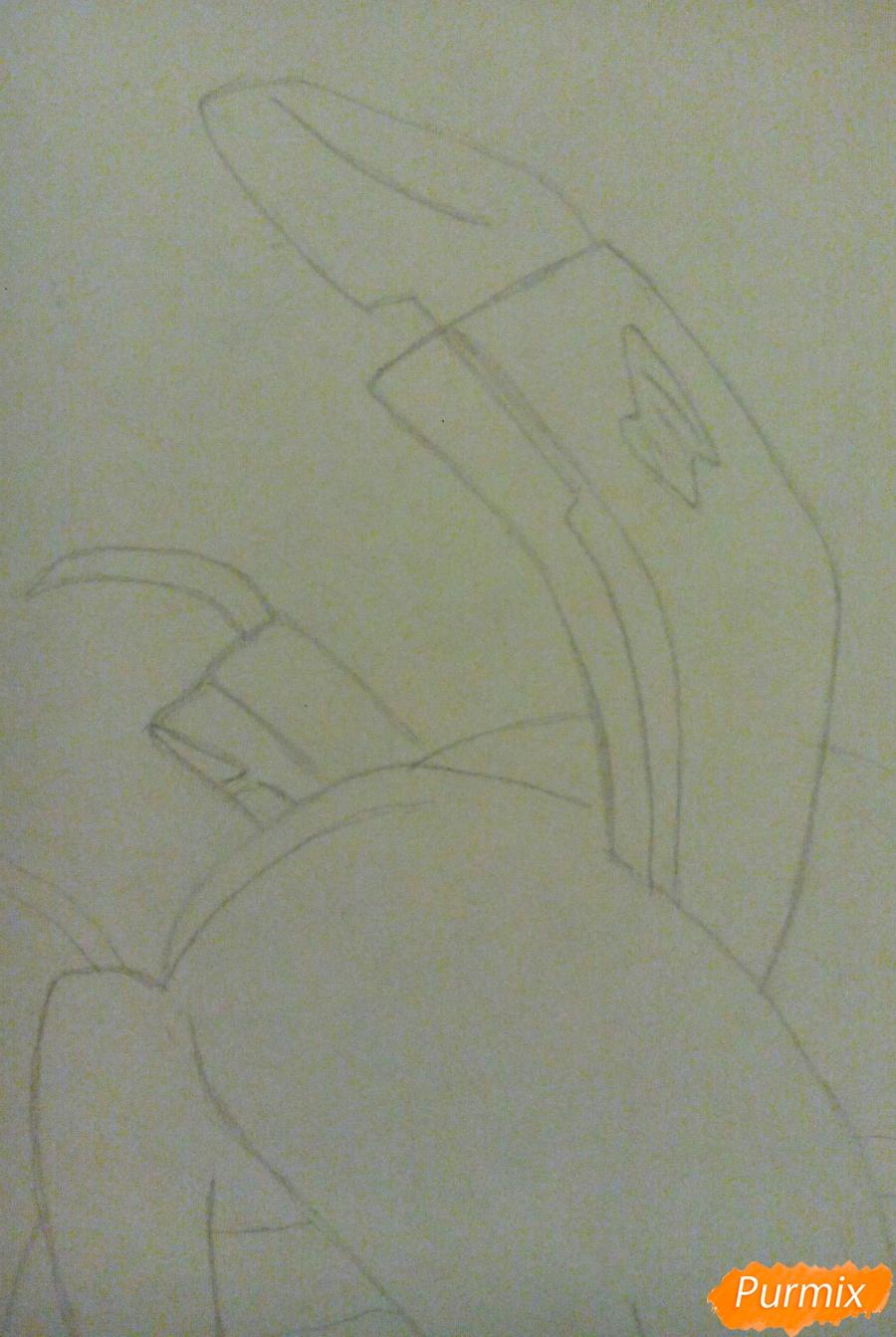 Рисуем Спрингтрапа в стиле аниме - шаг 4