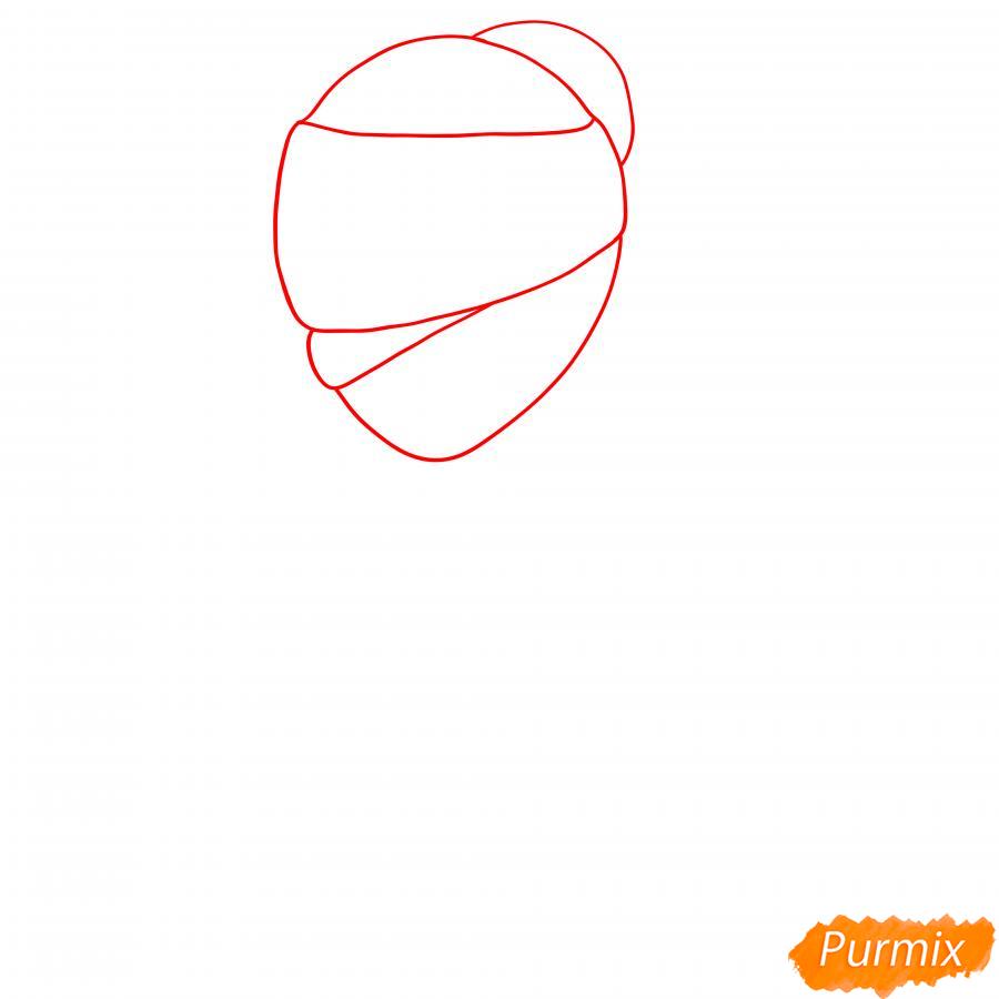 Рисуем Тару из Бравл Старс карандашами - шаг 1