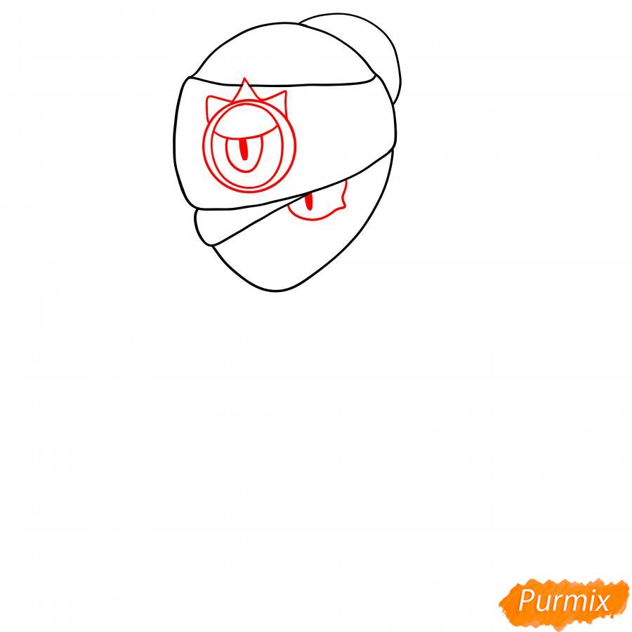 Рисуем Тару из Бравл Старс карандашами - шаг 2