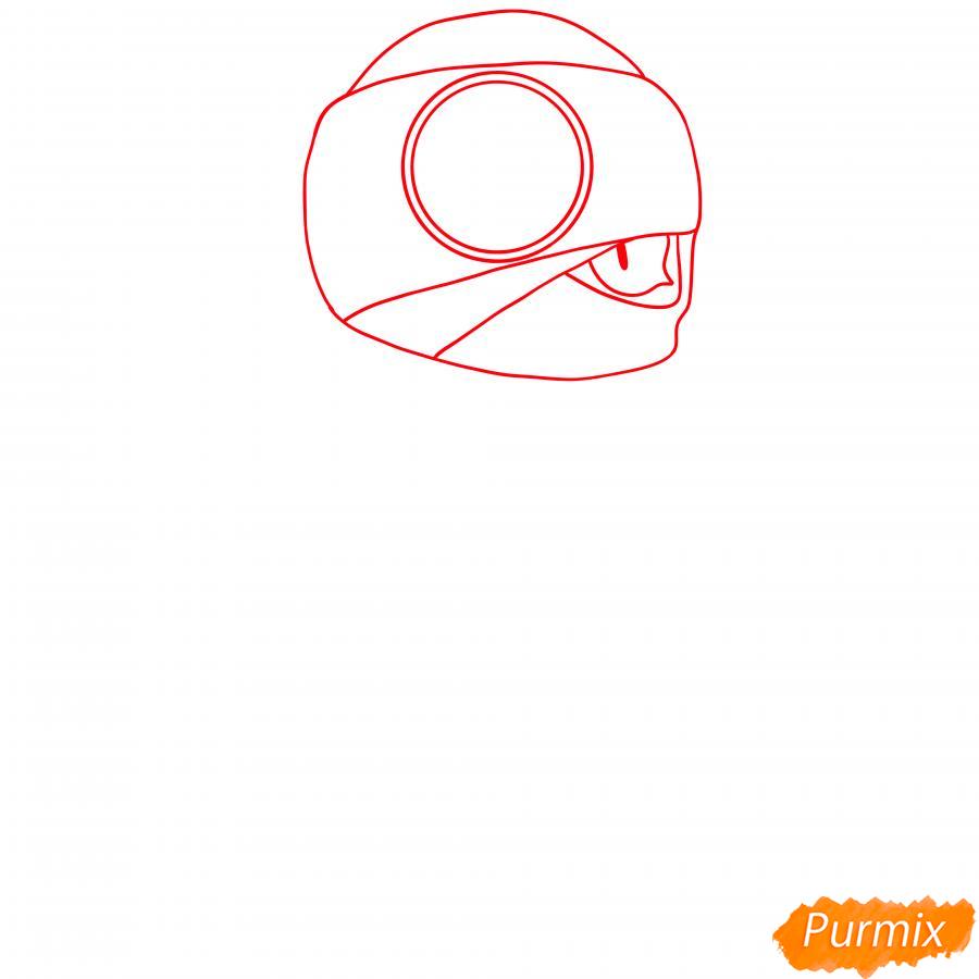 Рисуем Тару Ниндзя - шаг 1