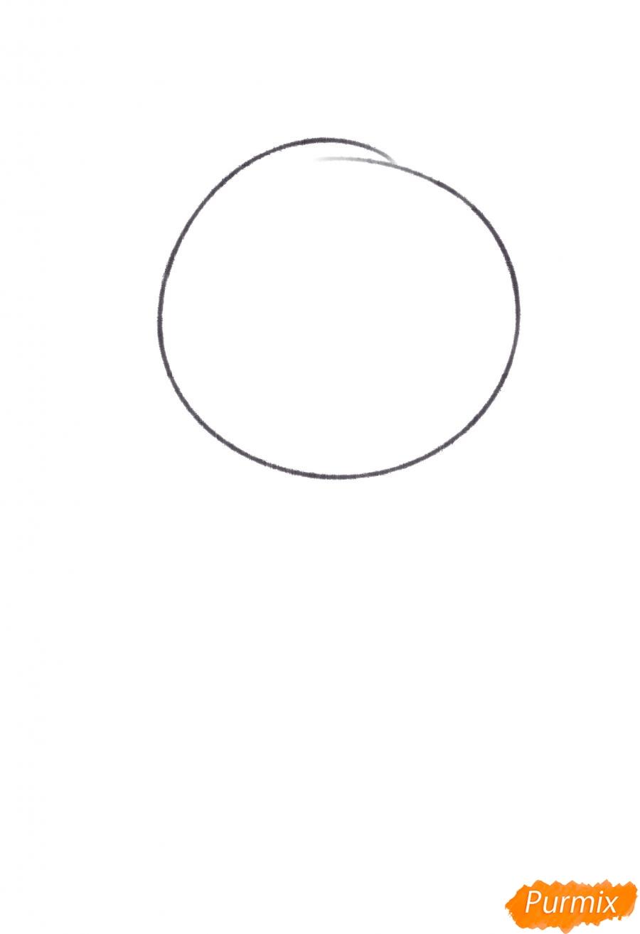 Рисуем Темми из игры UNDERTALE - шаг 1