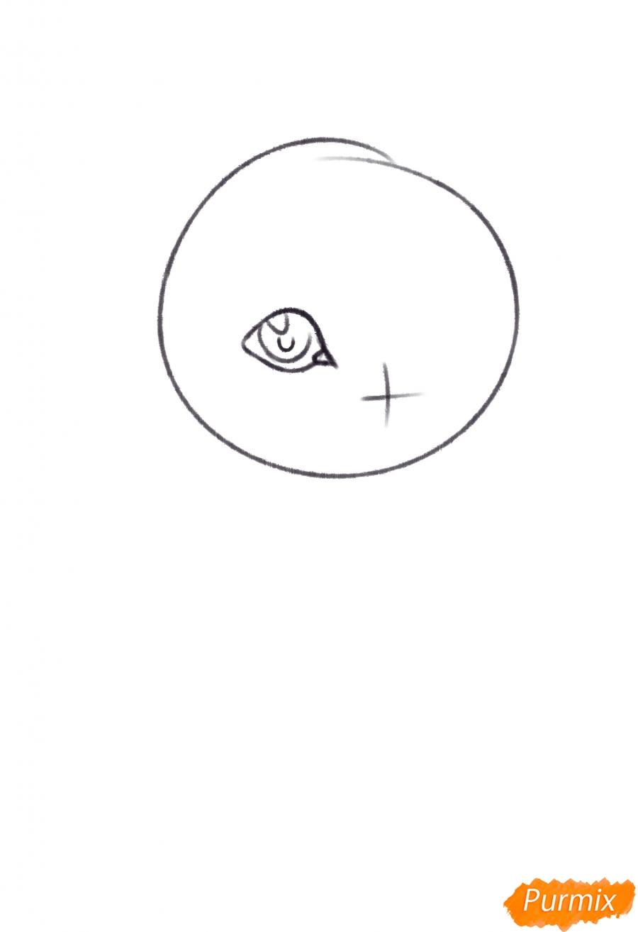 Рисуем Темми из игры UNDERTALE - шаг 2