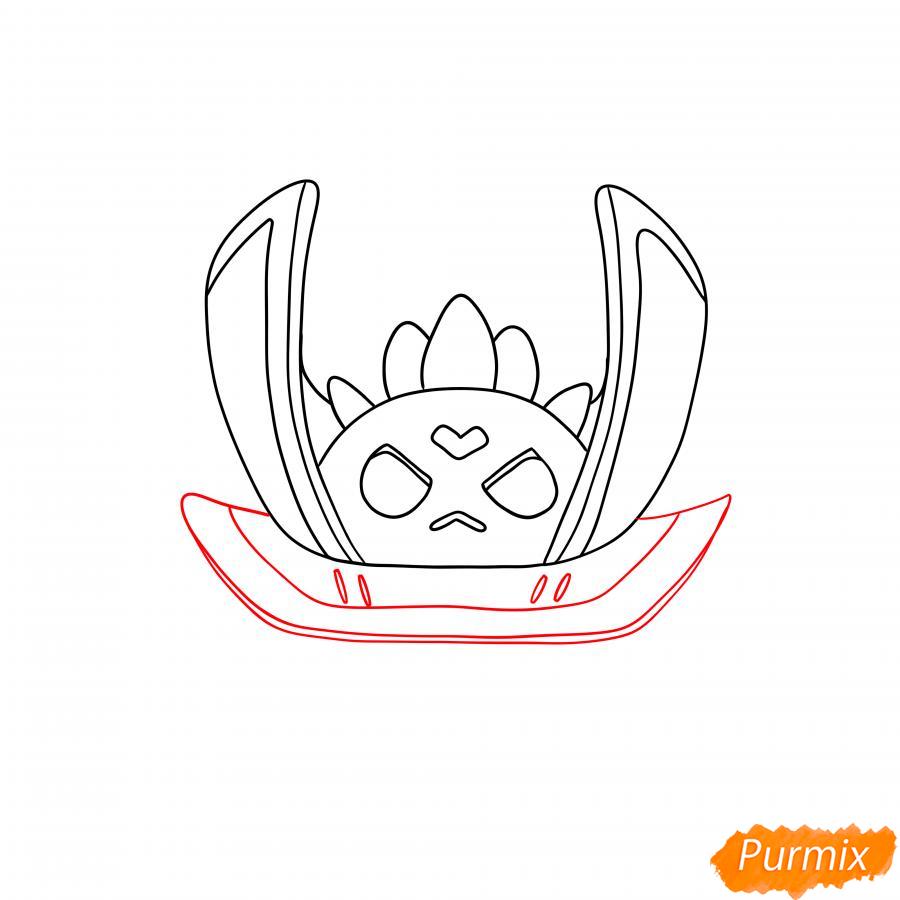 Рисуем тёмного лорда Спайка - шаг 3