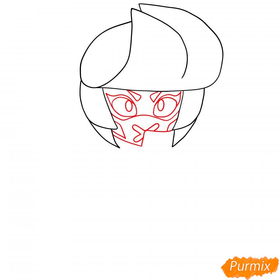 Рисуем Ужасную Биби - шаг 3