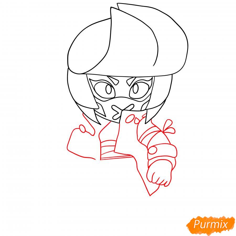 Рисуем Ужасную Биби - шаг 4