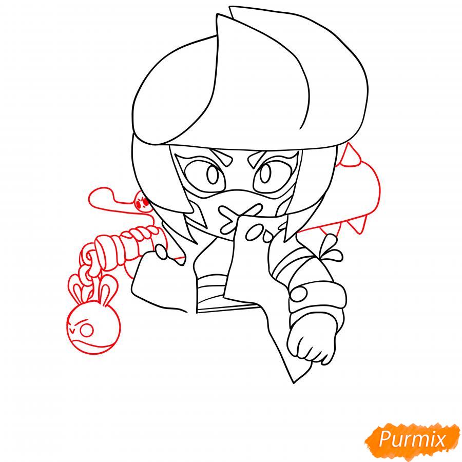 Рисуем Ужасную Биби - шаг 5