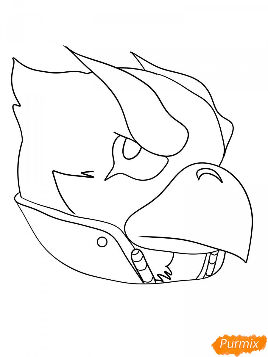 Рисуем Ворона феникса - шаг 10