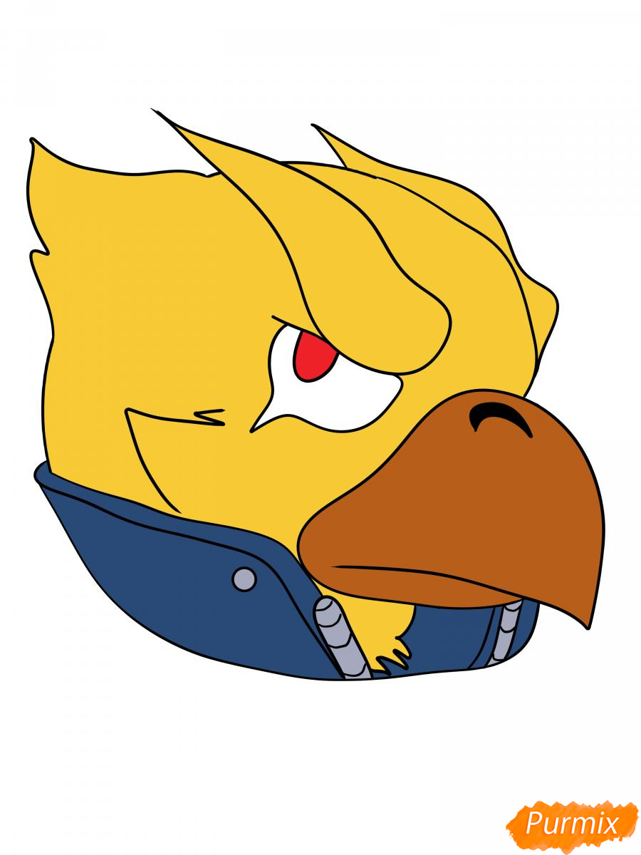 Рисуем Ворона феникса - шаг 12