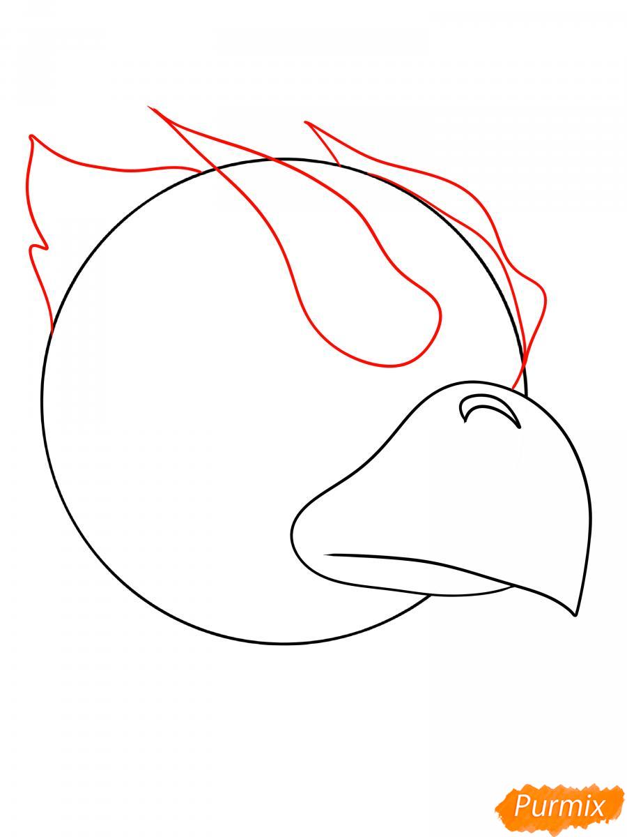 Рисуем Ворона феникса - шаг 4