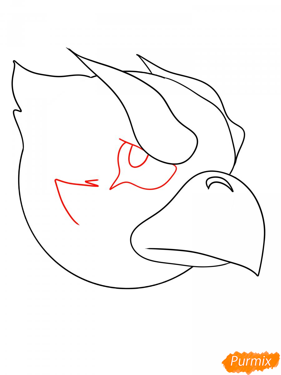Рисуем Ворона феникса - шаг 6
