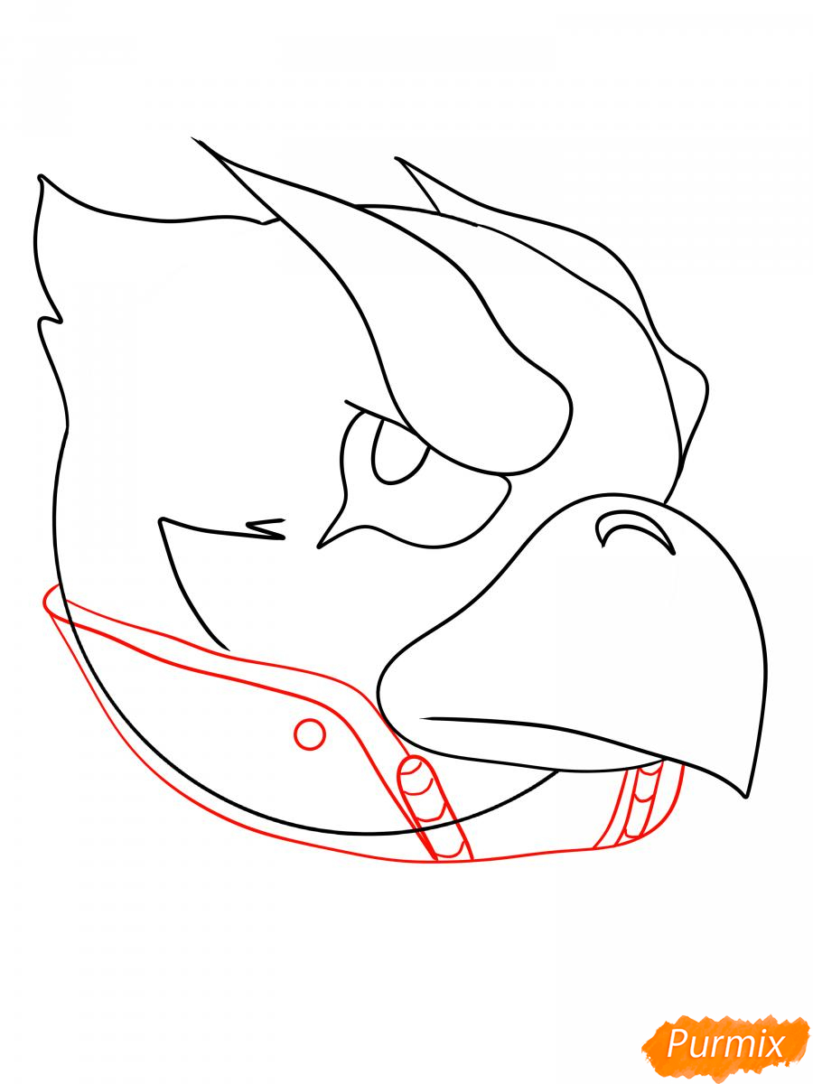 Рисуем Ворона феникса - шаг 7