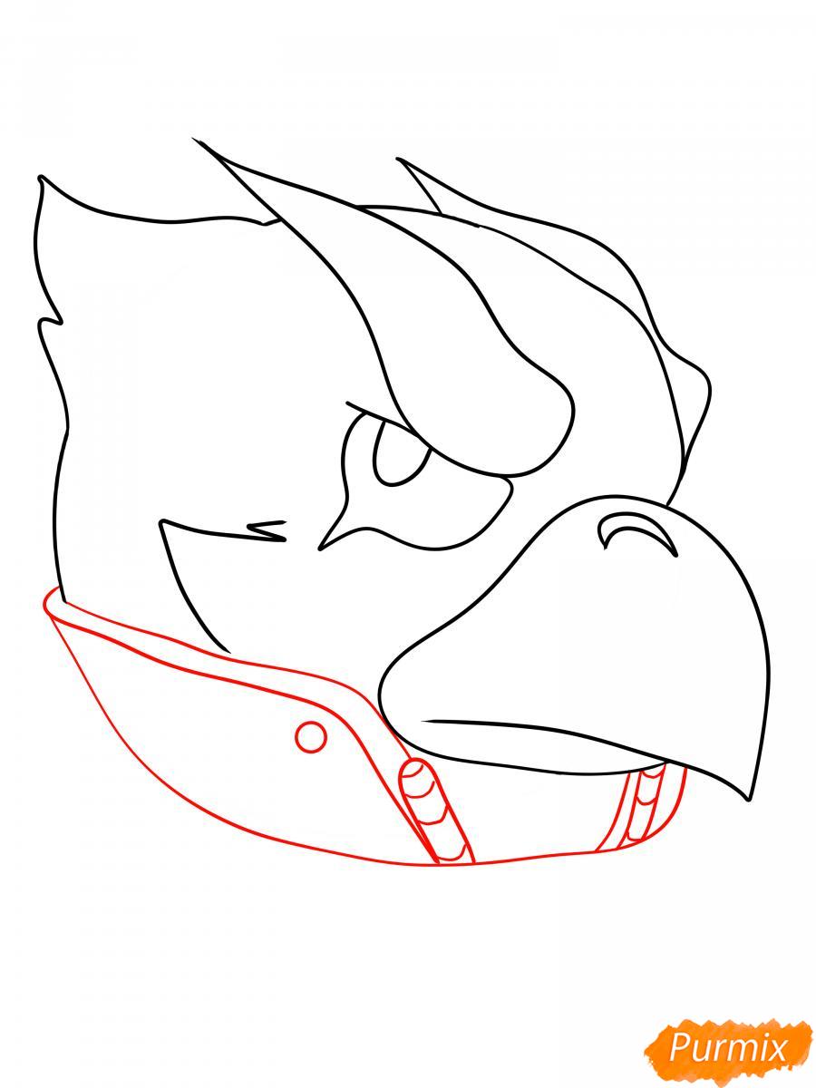 Рисуем Ворона феникса - шаг 8