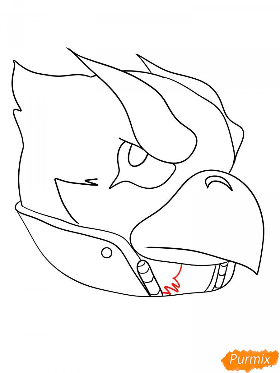 Рисуем Ворона феникса - шаг 9