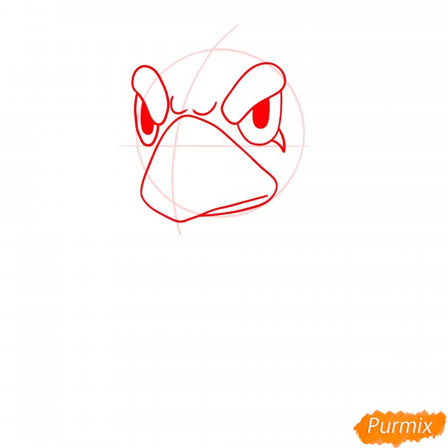 Рисуем Ворона из Бравл Старс - шаг 2