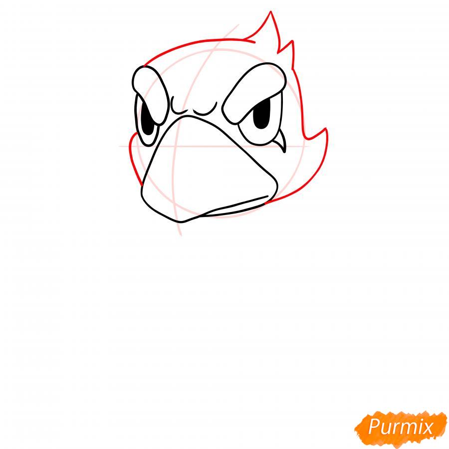 Рисуем Ворона из Бравл Старс - шаг 3