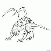 Фото Зерга из игры StarCraft карандашом