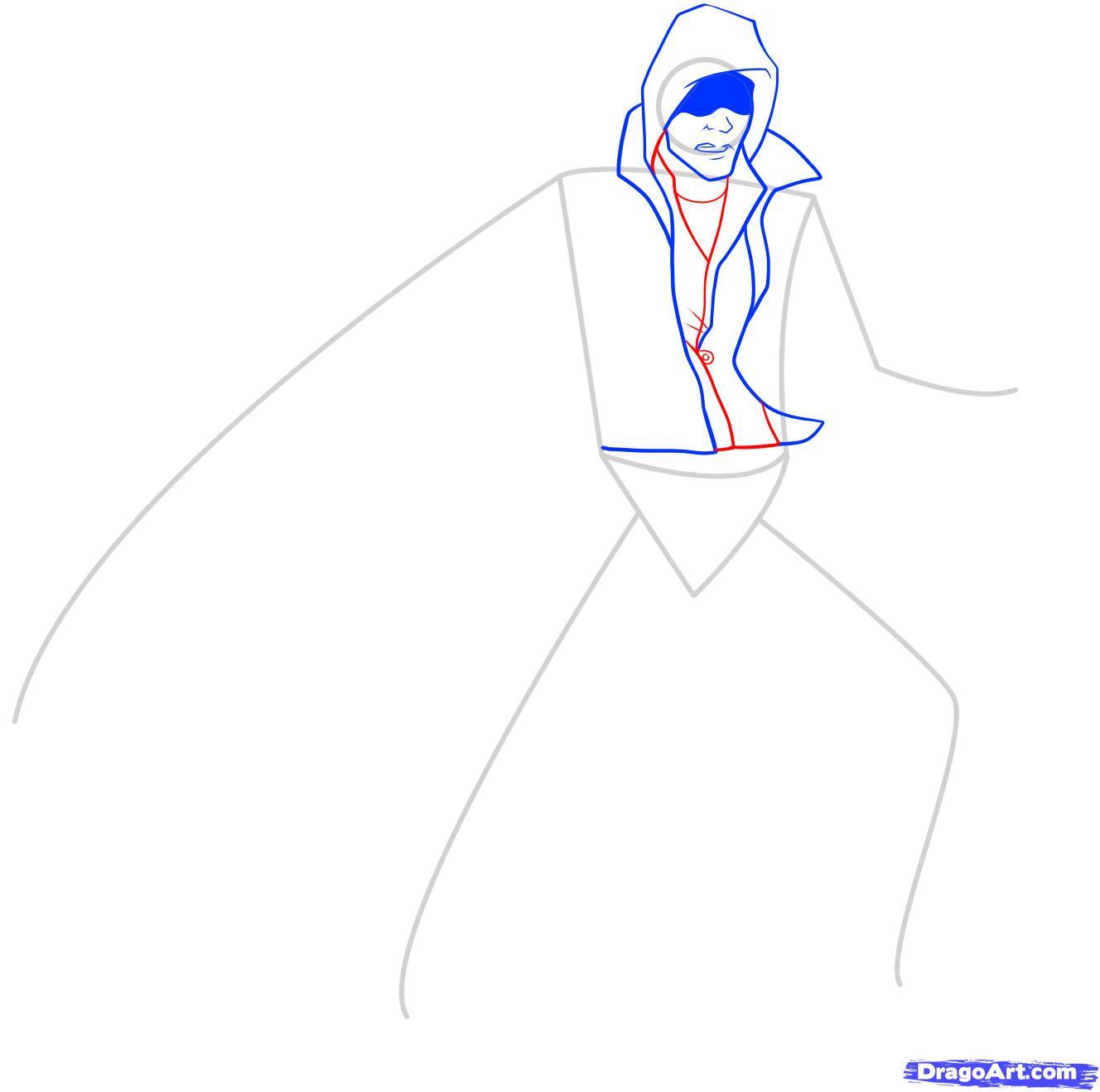 Рисуем Алекса Мерсера из игры Prototype - шаг 5