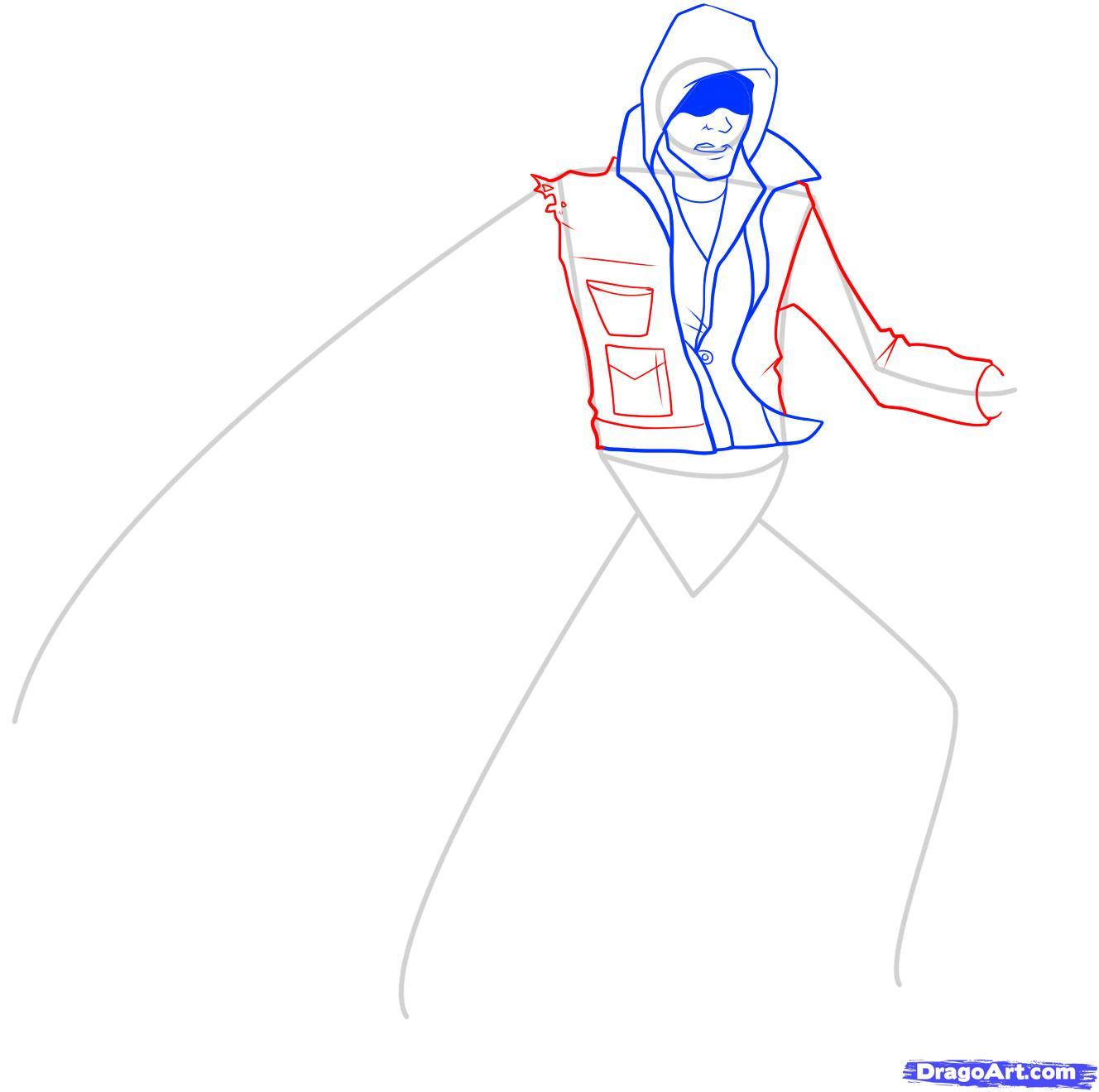 Рисуем Алекса Мерсера из игры Prototype - шаг 6
