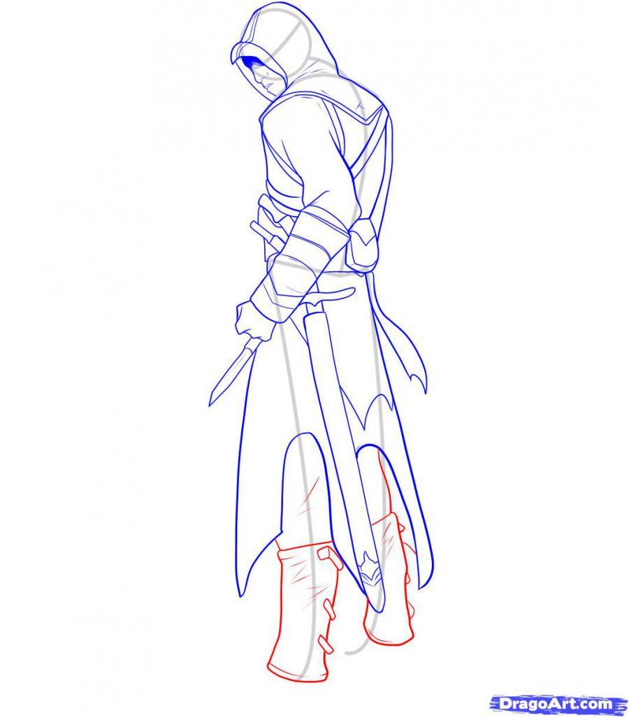 Рисуем Альтаира из игры Assassins Creed - шаг 10