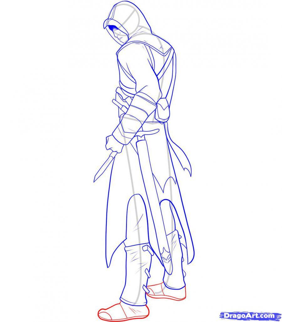 Рисуем Альтаира из игры Assassins Creed - шаг 11