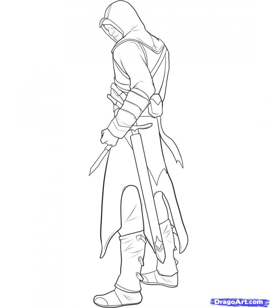 Рисуем Альтаира из игры Assassins Creed - шаг 12