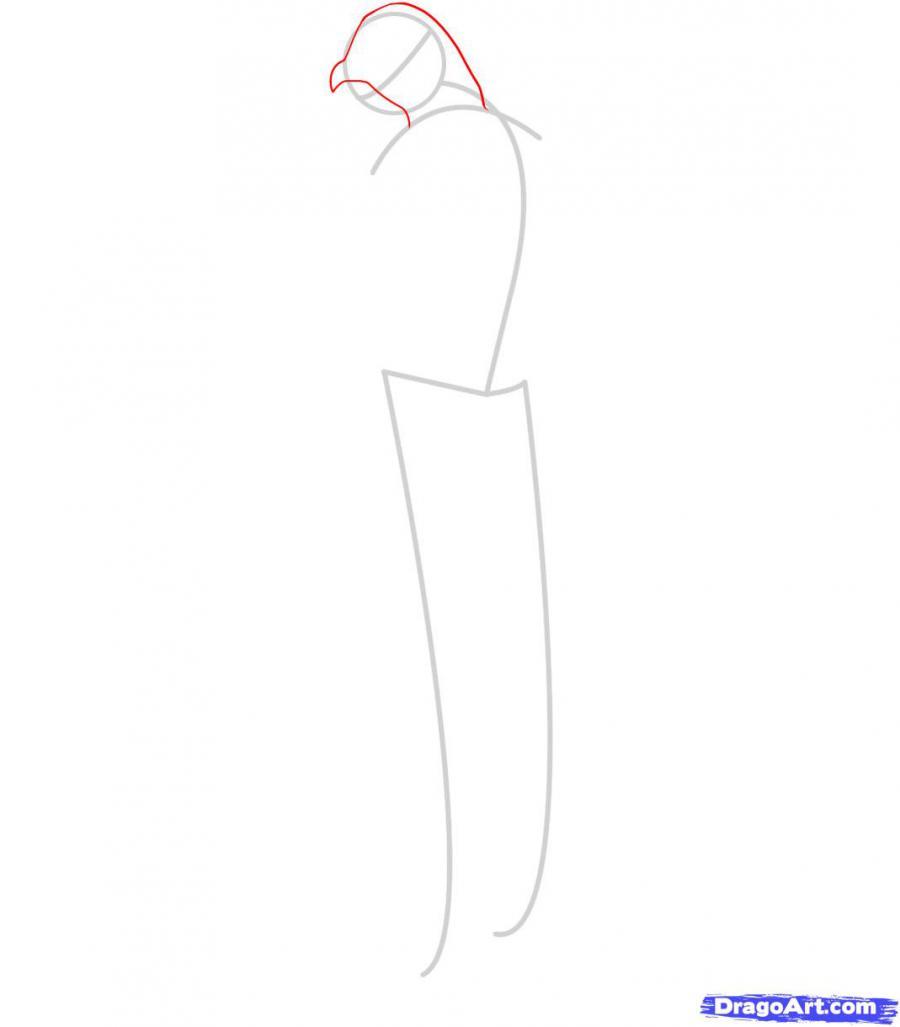 Рисуем Альтаира из игры Assassins Creed - шаг 2