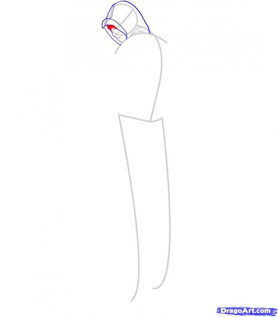 Рисуем Альтаира из игры Assassins Creed - шаг 4