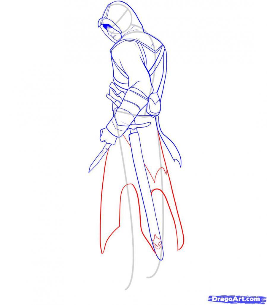 Рисуем Альтаира из игры Assassins Creed - шаг 9