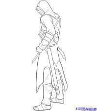 Фото Альтаира из Assassins Creed карандашом