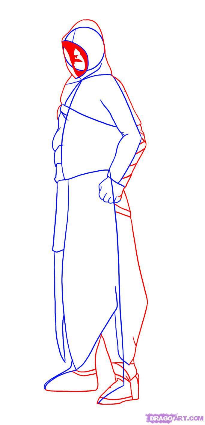 Рисуем Альтаира в полный рост - шаг 3
