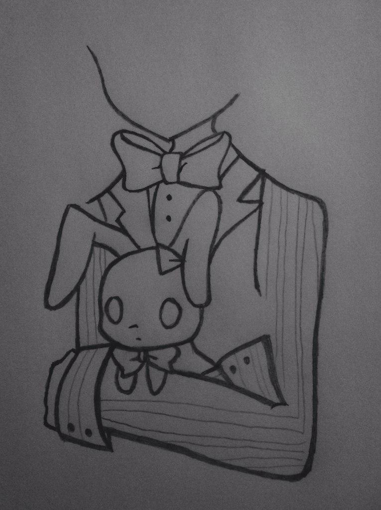 Рисуем Бонни с милыми кроликами - шаг 5