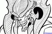 Фото демона из Diablo Prime Evil карандашом