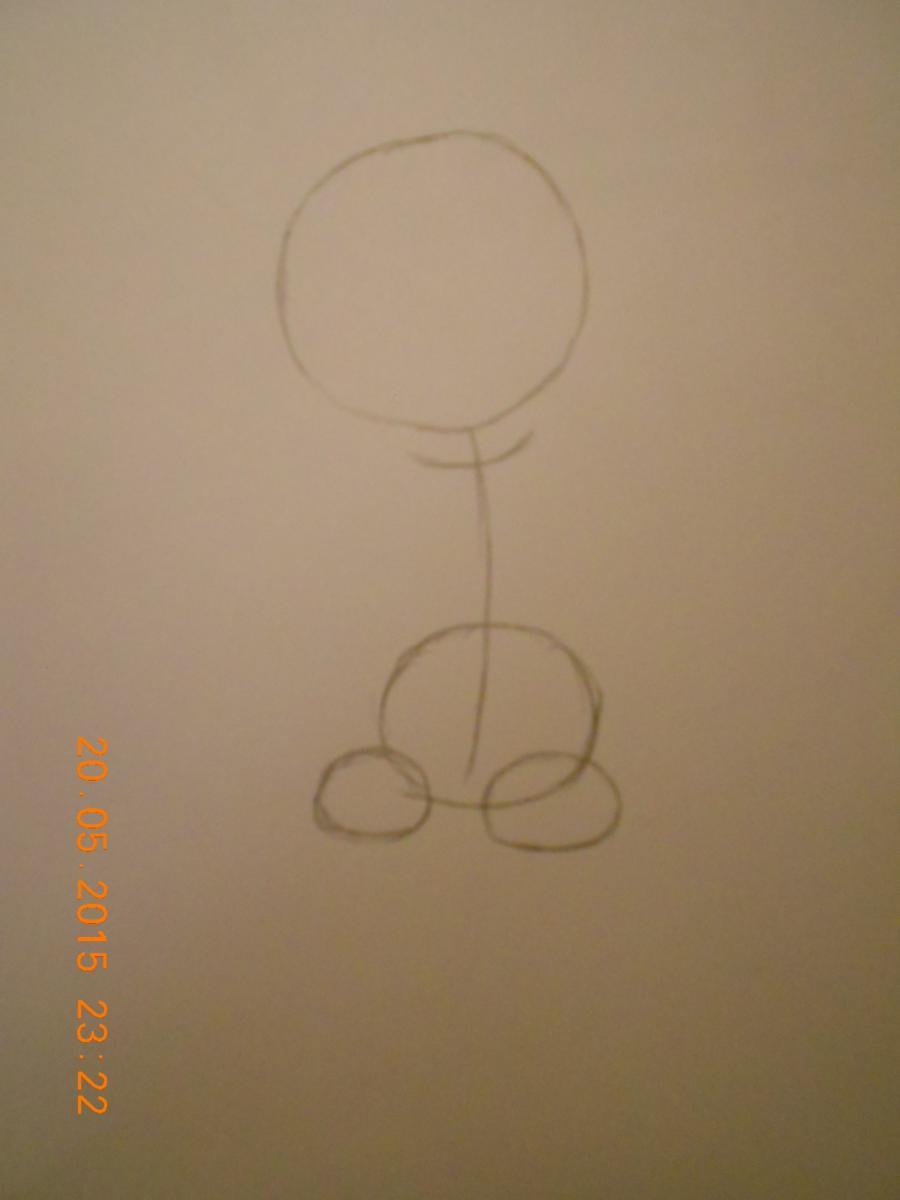 Рисуем Фокси из FNaF - шаг 1