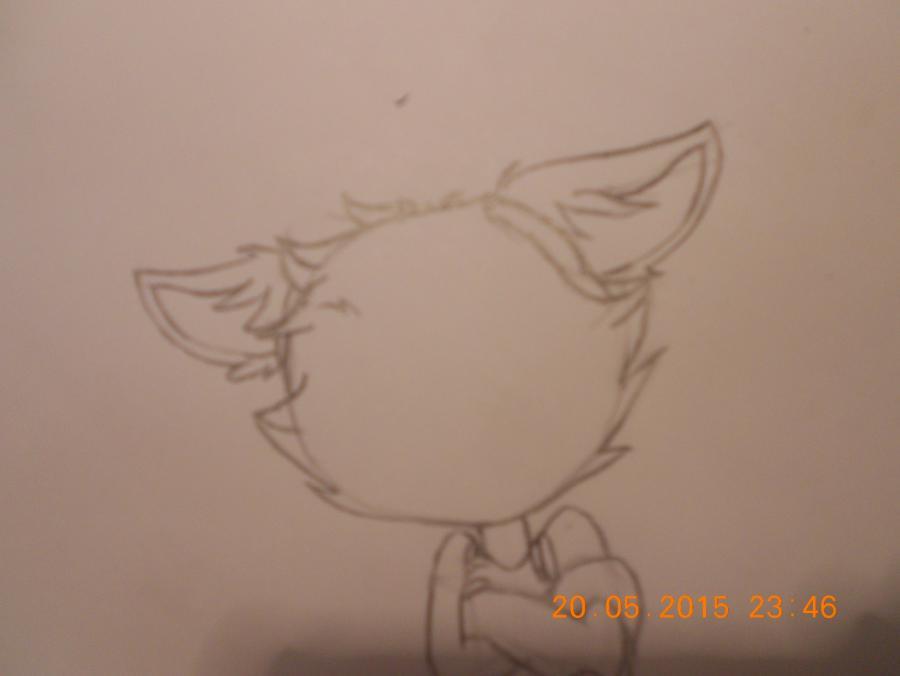 Рисуем Фокси из FNaF - шаг 3