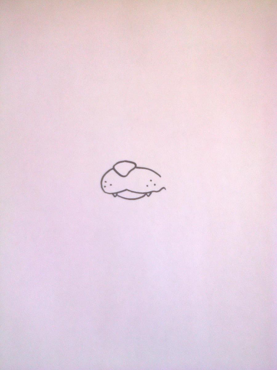 Рисуем Фредди из 5 ночей с Фредди маркером или чёрным фломастер - шаг 1