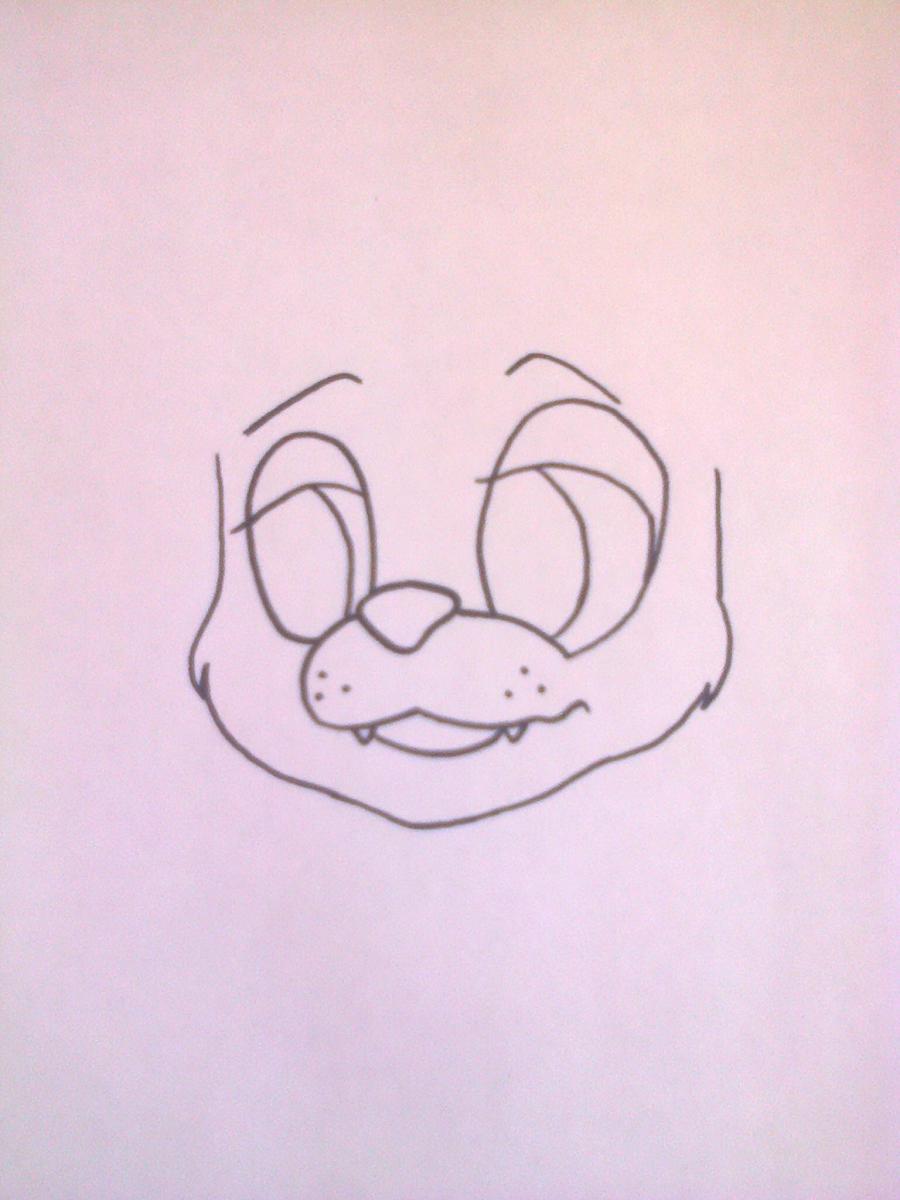 Рисуем Фредди из 5 ночей с Фредди маркером или чёрным фломастер - шаг 3