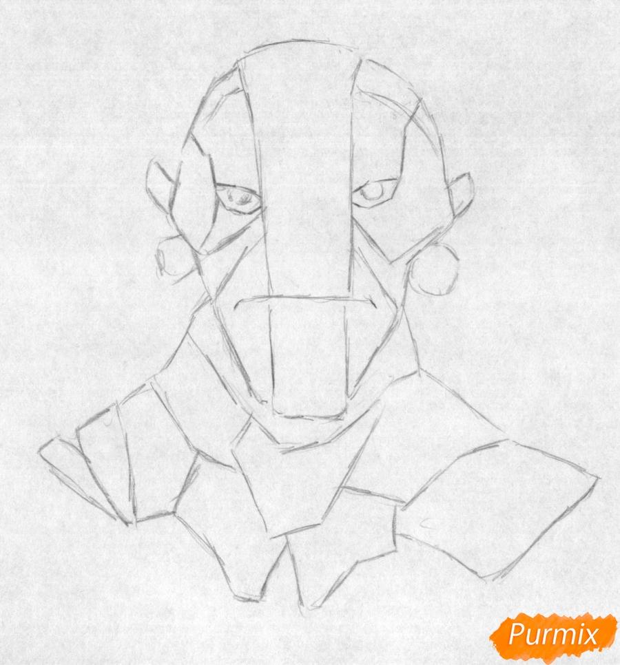 Рисуем героя Earth Spirit из игры Dota 2 - шаг 1