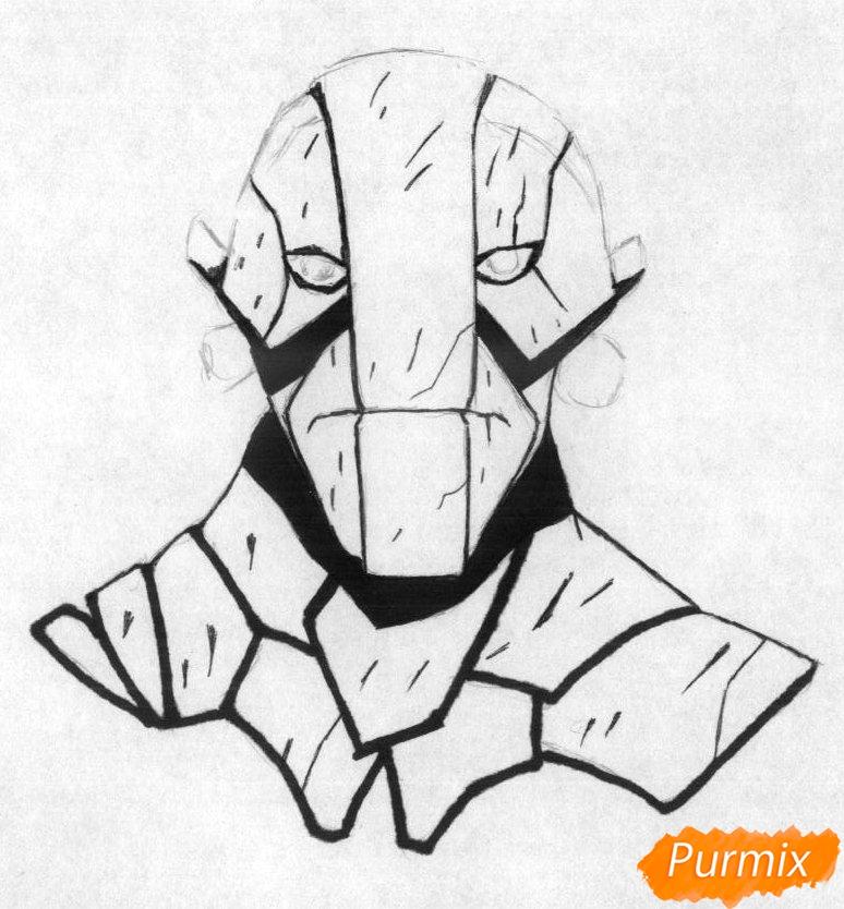 Рисуем героя Earth Spirit из игры Dota 2 - шаг 2