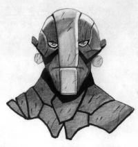 Фото героя Earth Spirit из Dota 2 карандашом