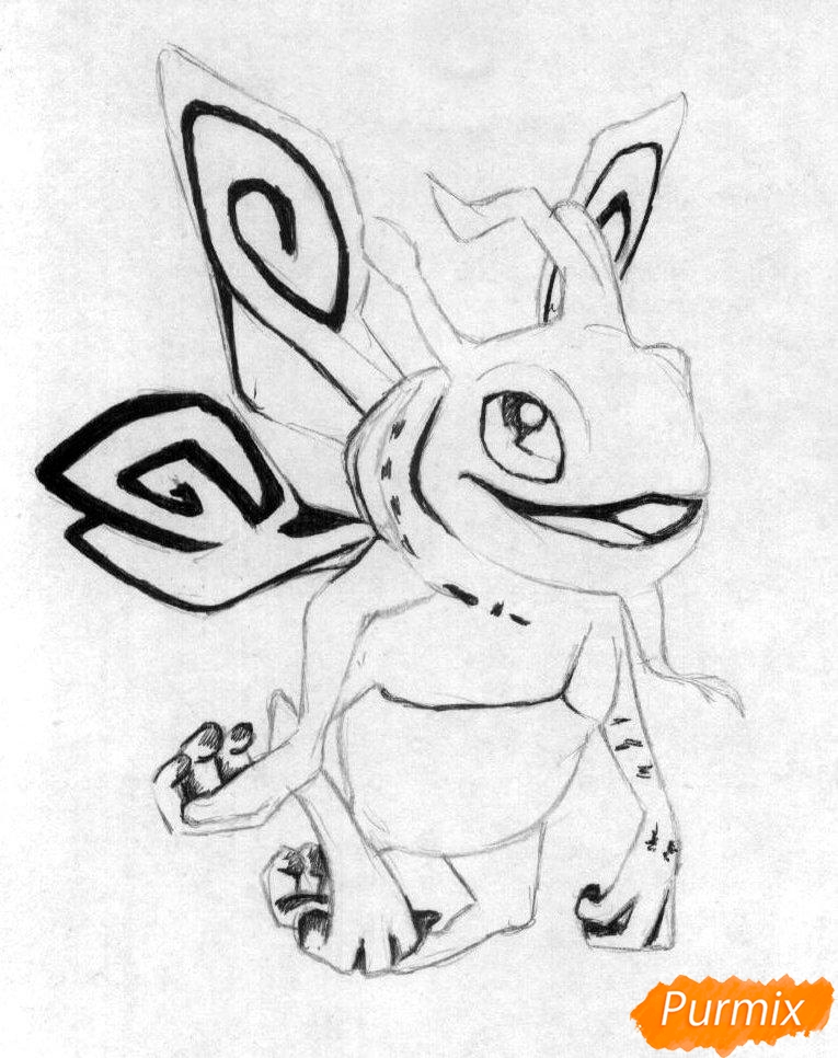 Рисуем героя Puck из игры Dota 2 - шаг 2